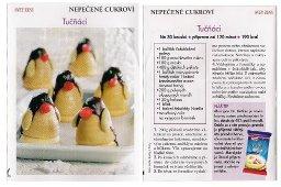 Vánoční cukroví ve tvaru tučňáka