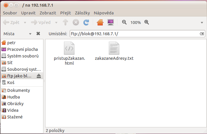 Pristup na router pres FTP