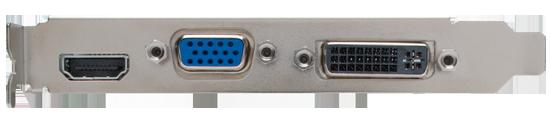 NVIDIA GeForce GT240 - pohled na konektory