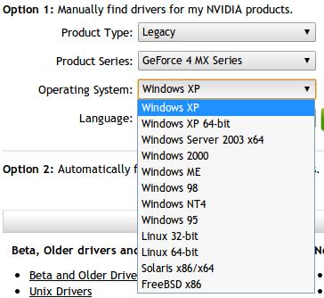 nVidia GeForce MX440 AGP ovladace pro Windows 7 | Martin Vancl